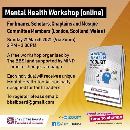 Imams and Scholars Mental Health Toolkit Webinars