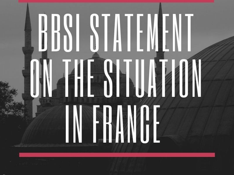 BBSI STATEMENT ON THE SITUATION IN FRANCE