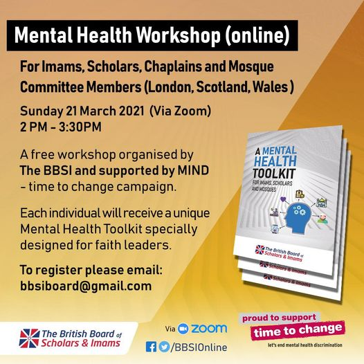Imams and Scholars Mental Health Toolkit Webinars